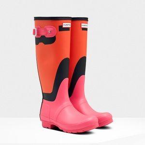 NIB Hunter Original Tall Shadow Print Rain Boots